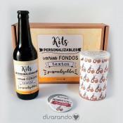 Kit cerveza personalizado (Varios diseños de caja)