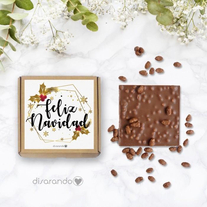 "Tableta chocolate ""Feliz Navidad"""