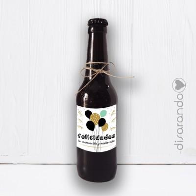 Botellín Cerveza Felicidades