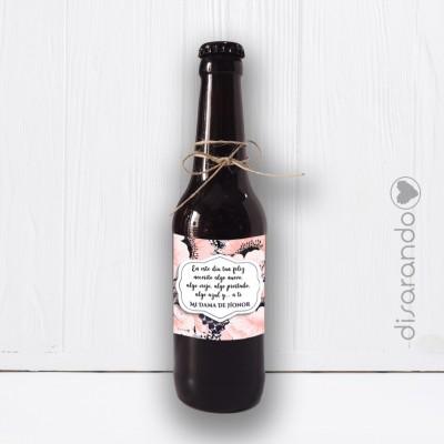 """Botellín Cerveza Artesana """"Dama de Honor"""""""