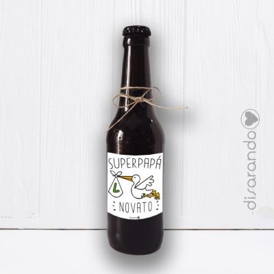 Botellín Cerveza Papá Novato