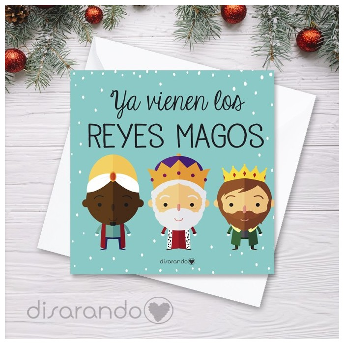 Tarjeta Navidad Reyes Magos