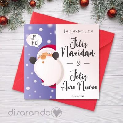 Tarjeta Navidad Noel Silvando