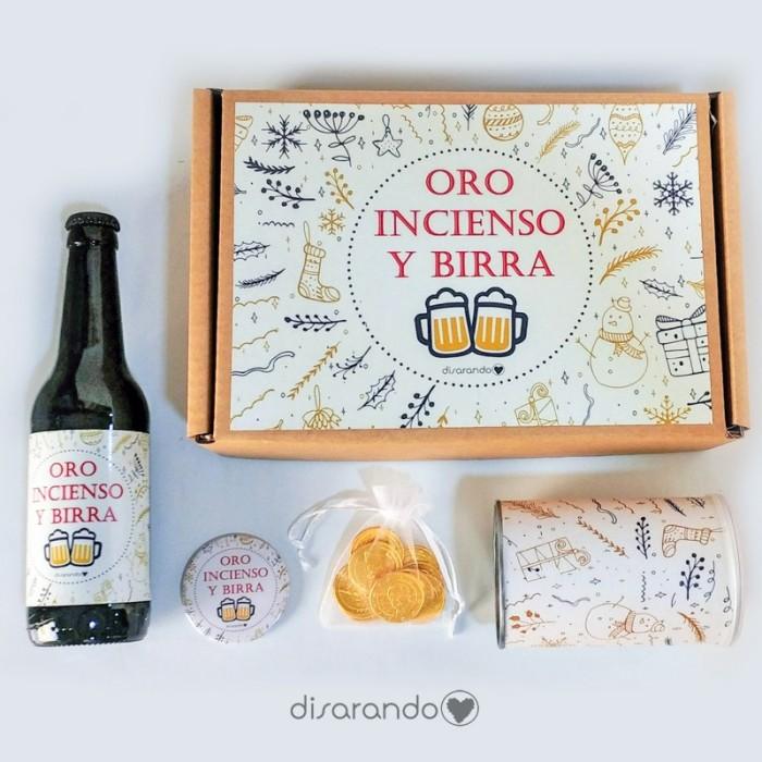 """Kit Cerveza """"Oro, incienso y... birra"""""""